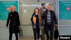 Butina arrival to Russia