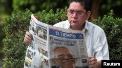 Al igual que en el resto del mundo, la muerte del Gabo acaparó titulares en los diarios de Colombia, su país natal.