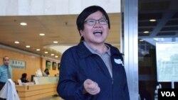 香港記者協會主席岑綺蘭(VOA湯惠芸攝)