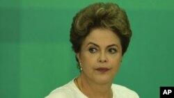 Le présidente du Brésil, Dilma Rousseff. (AP Photo/Eraldo Peres)