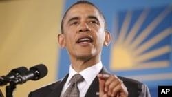 2011年5月12号美国总统奥巴马在全国西裔祈祷早餐会上讲话(资料照)
