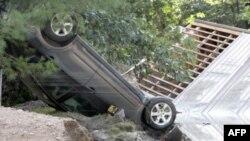 Một hình ảnh của sự tàn phá sau khi bão Irene thổi qua thành phố Waterbury, bang Vemont