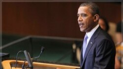 پرزیدنت اوباما در مجمع عمومی سازمان ملل متحد. نیویورک ۲۱ سپتامبر ۲۰۱۱