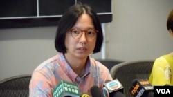 香港一地兩檢關注組專家小組代表梁啟智 (美國之音特約記者 湯惠芸拍攝 )