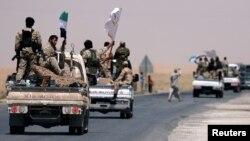 نیرو های دموکراتیک سوریه در حال حرکت به سوی رقه.