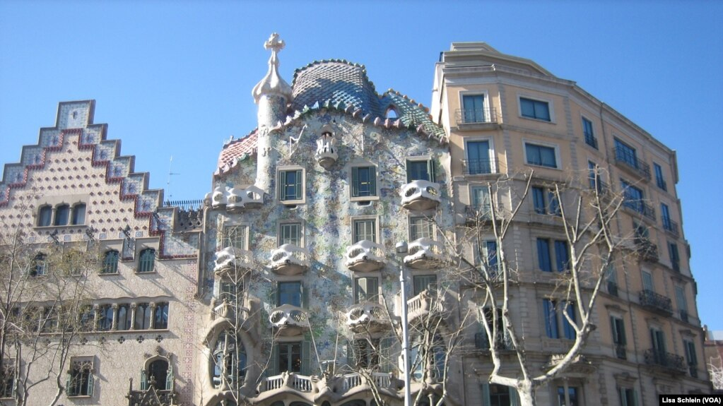 The Facade Of Casa Batllo, One Of Seven Works By Catalonian Architect Antoni  Gaudi,