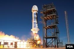 Ракета New Shepard від Blue Origin робить ще один успішний запуск і посадку з запускного майданчика компанії в Західному Техасі.