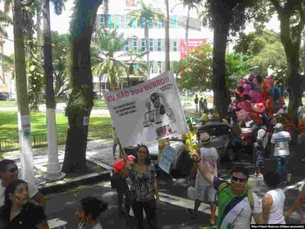 Manifestação em Belém do Pará, no Brasil - brasileiros querem Dilma fora do poder. 15 Março 2015