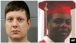 Chicago police Officer Jason Van Dyke, left, and Laquan McDonald.
