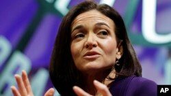 Kepala pelaksana operasi (COO) Facebook, Sheryl Sandberg