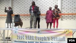 Một đại biểu phát biểu tại Hội nghị thượng đỉnh SADC tại Bulawayo, thành phố lớn thứ hai của Zimbabwe, ngày 15 tháng 8, 2014.