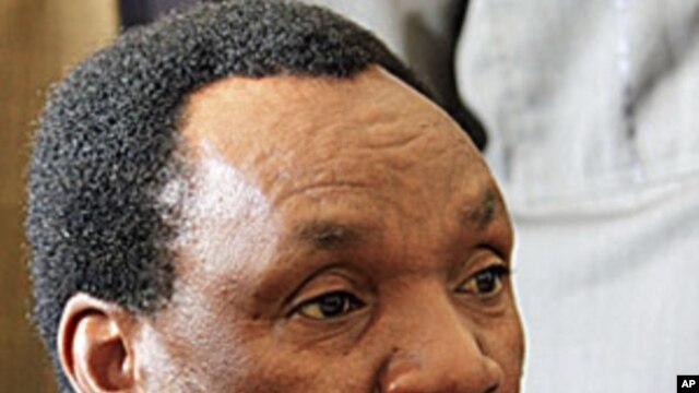 Kenya's industrialization minister Henry Kosgey appears at the High Court in Nairobi. The Kenyan government minister pleaded not guilty to a dozen counts of abuse of office, hours after resigning to allow for an investigation into a scam involving imports
