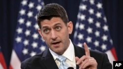 """House Speaker Paul Ryan of Wis. speaks on Capitol Hill in Washington, March 23, 2016. Wisconsin's """"Cheesehead Revolution"""" was ushered in by a trio of Republicans, Walker, Reince Priebus and Scott Walker, looking to inject the party with their own youthful, aggressive brand of conservatism while positioning the party for success in the 2016 presidential election."""
