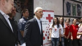 Novi i bivši predsednik DS-a, Dragan Đilas i Boris Tadić