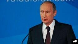 24일 러시아 소치에서 열린 '발다이 클럽' 회의에 참석한 블라디미르 푸틴 러시아 대통령이 발언하고 있다. (자료사진)
