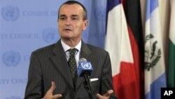 Aktuelni predsednik Saveta bezbednosti Ujedinjenih nacija, francuski ambasador Žerar Aro