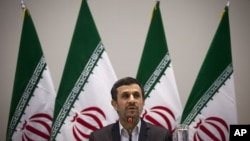 Iranian President Mahmoud Ahmadinejad (June 21, 2012 file photo)