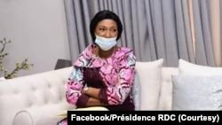 Mokambi ya a Assemblée nationale Jeanine Mabunda, na bokutani na président Félix Tshisekedi (amonani te) na Cité ya Union africaine, na Kinshasa, 13 octobre 2020. (Facebook/Présidence RDC)