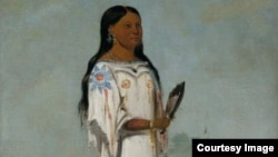 Portait of Seet-sé-be-a (Midday Sun), a Hidatsa girl by George Catlin, 1832. ( Photo: Courtesy Smithsonian American Art Museum)