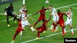 Alemania y Ghana jugaron en Fortaleza un partido electrizante