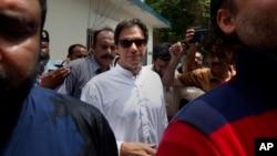 """巴基斯坦前板球明星伊姆蘭·汗領導的""""正義運動黨""""在日前舉行的議會選舉中獲得大勝。(資料照片)"""