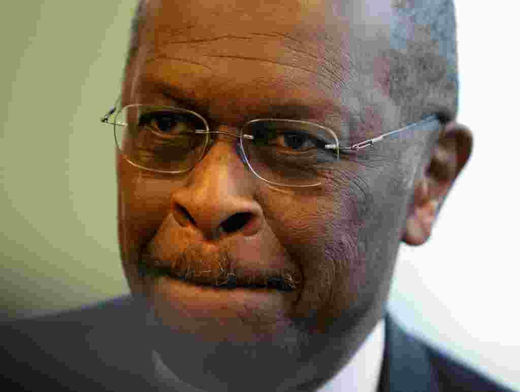 Herman Cain, líder de la Coalición Cristiana de Georgia y ex CEO de Godfather's Pizza.