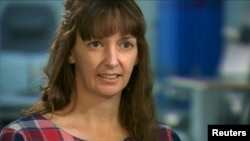 FILE - British nurse Pauline Cafferkey, shown in a January interview, had suffered a relapse of Ebola, which she contracted last year in Sierra Leone. She has recovered enough to be transferred to a hospital near her home.