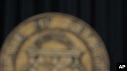 美前众院议长金里奇3月3号在亚特兰大举行的记者会上
