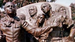 "A statue in the city of Boston, Massachusetts, called ""Step on Board"" celebrates American abolitionist Harriet Tubman"