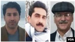 از راست: شاپور احسانیراد، سعید تابناک، و اکبر باقری