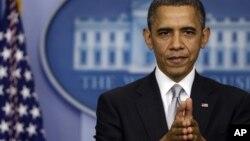 奥巴马总统2012年12月19日在白宫接受记者的提问