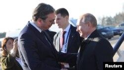Predsednici Srbije i Rusije, Aleksandar Vučić i Vladimir Putin