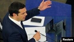 Thủ tướng Hy Lạp Alexis Tsipras tại Nghị viện châu Âu ngày 8 tháng 7, năm 2015. (REUTERS/Vincent Kessler)