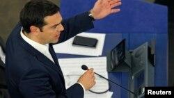 2015年7月8日希腊总理齐普拉斯在法国斯特拉斯堡欧洲议会讲话