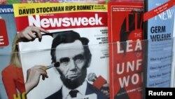 Tạp chí Newsweek tại một sạp bán báo ở New York ngày 18/10/2012. Phiên bản báo in cuối cùng của Newsweek sẽ là ngày 31/12.