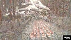 ნახატი გია ბუღაძის გამოფენიდან Victima