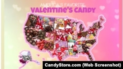 Screengrabbed CandyStore.com - Valentine's Day Candy Map