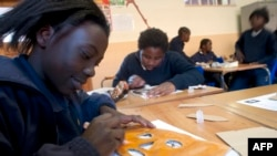 南非儿童上课
