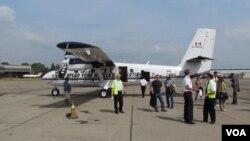 Kenn Borek Air-ის თვითმფრინავი მესტიაში სატესტო გაფრენის წინ