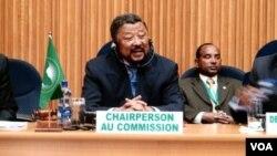 Ketua Komisi uni Afrika Jean Ping berbicara dalam KTT Uni Afrika di Addis Ababa, Ethiopia (Rabu, 25/1).