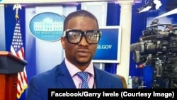 Garry Iwele, journaliste indépendant évoluant aux Etats-Unis arrêté à Kinshasa, 2017. (Facebook/Garry Iwele)