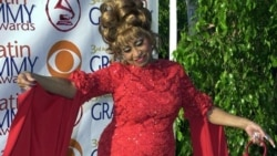 """Queen of Salsa"" Celia Cruz arrives at the 3rd annual Latin Grammy Awards"