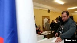 俄罗斯首都莫斯科选民投票选举市长