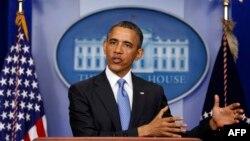 Президент США Барак Обама. Белый дом. Вашингтон. 30 апреля 2013 г.