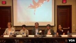 加州大學聖迭戈分校2017年在華盛頓舉行的一場有關中國19大的研討會資料照。