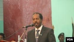 索马里总统马哈茂德(资料照片)