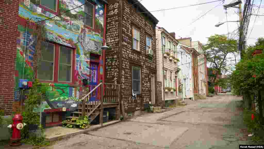 The row houses of City of Asylum Pittsburgh