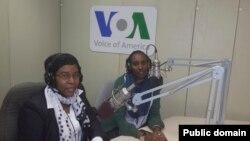 Umunyamakuru Eugenie Mukankusi na Julian Kayibanda w'umushinga SHE