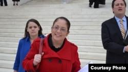 """""""墨西哥裔美国人法律辩护与教育基金""""诉讼部副主席尼娜•佩拉雷斯 (图片来源:Lawyers' Committee for Civil Rights Under Law.)"""