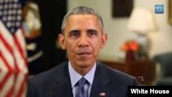 19일 바락 오바마 미국 대통령이 이란의 새해 명절 '누루즈'에 맞춰 축하 메세지를 보내고 있다.